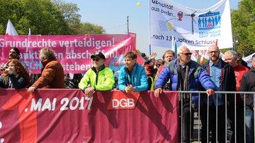 Die Erwerbslosen von ver.di-Berlin beim 1. Mai 2017